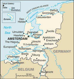 Netherlands to Germany map