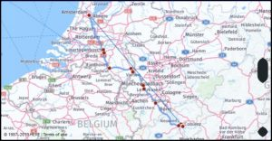 Distance from Amsterdam north holland Netherlands to Koblenz Germany