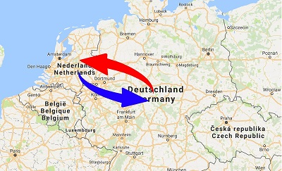transport from Germany to Netherlands